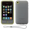Product Image for the iPhone 3GS Wave Case w/Strap, Gray, Bone Collection