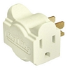 Product Image for the Hug-A-Plug Dual Outlet Wall Adapter, Ivory