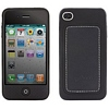 Product Image for the iPhone 4 (ATT) Leather Silicone Case, Black, Bone Collection