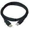 Product Image for the USB 2.0 Type A Male to Female Extension USB Cable, Black, 6ft