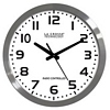Product Image for the Analog Atomic Clock, White, Brushed Metal, 16in