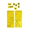 Product Image for the Large Print Keyboard Stickers, Yellow/Black