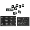 Product Image for the Large Print Keyboard Stickers, White, Black