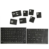 Product Image for the Alphanumeric Replacement Keyboard Stickers, White, Black