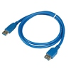 Product Image for the SuperSpeed USB 3.0 Type A Male to Female USB Cable, Blue, 3ft