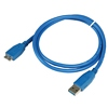 Product Image for the SuperSpeed USB 3.0 Type A Male to Micro-USB Male USB Cable, Blue, 3ft