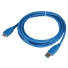 Product Image for the SuperSpeed USB 3.0 Type A Male to Micro-USB Male USB Cable, Blue, 10ft