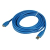 Product Image for the SuperSpeed USB 3.0 Type A Male to Micro-USB Male USB Cable, Blue, 15ft
