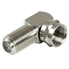 Product Image for the Coaxial Type F (Female to Male) Right Angle Adapter