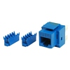 Product Image for the CAT5e Network (RJ-45) Keystone Panel Jack, 8P8C, Blue