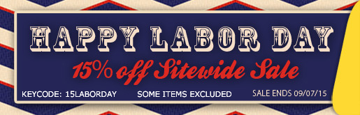 Labor Day Sale 15% off sitewide