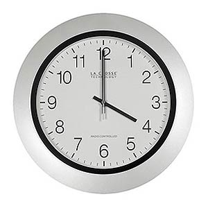 250 0971 - ATOMIC WALL CLOCK, 14IN., PEARL - is no longer available at Cyberguys.com