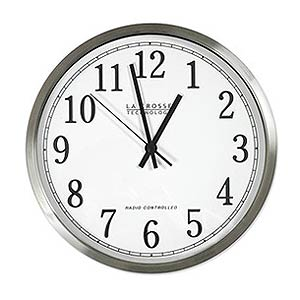 250 0966 - 12IN ALUMINUM FRAME ATOMIC WALL CLOCK - is no longer available at Cyberguys.com