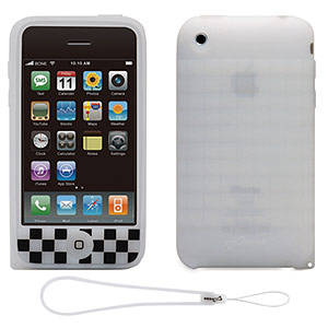 215 0742 - BONE IPHONE3GS CASE CUBE W/STRAP WT/B, PH08013-WBK - is no longer available at Cyberguys.com
