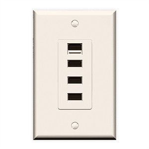 180 0150 - USB OUTLET QUATTRO, 4 USB PORTS, IVORY - is no longer available at Cyberguys.com