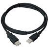 Product Image for the USB 2.0 Cable, Type A Male to Female Extension, Black, 3ft