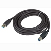 Product Image for the SuperSpeed USB 3.0 Type A Male to Type B Male USB Cable, Black, 15ft