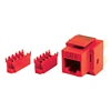 Product Image for the CAT6 Network (RJ45) Keystone Panel Jack, 8P8C, Red, Single