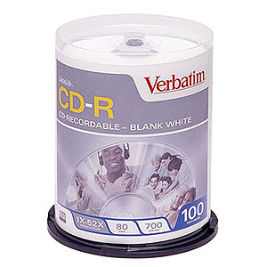 154 0663 - VERBATIM CD-R 80MIN 700MB 52X 100PK SPINDLE - is no longer available at Cyberguys.com