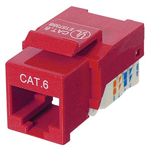 180 0325 - CAT6 RJ45 KEYSTONE JACK, TOOL-FREE, RED - is no longer available at Cyberguys.com
