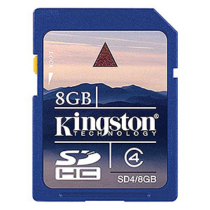 204 0919 - KINGSTON SDHC HIGH CAP. FLASH CARD, 8GB, CLASS 4 - is no longer available at Cyberguys.com