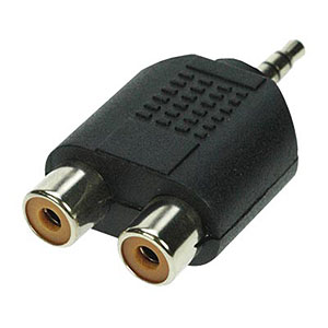 190 0493 - 3.5MM STEREO PLUG TO RCA F X2 ADAPTER - is no longer available at Cyberguys.com