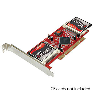 204 0139 - COMPACTFLASH TO PCI ADAPTER, HOLDS 4 CF TYPE I/II - is no longer available at Cyberguys.com