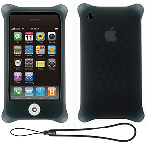 215 0756 - BONE IPHONE3GS CASE BUBBLE W/STRAP BLK, PH08053-BK - is no longer available at Cyberguys.com