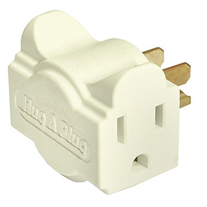 112 0126 - HUG-A-PLUG DUAL OUTLET WALL ADAPTER, IVORY - is no longer available at Cyberguys.com