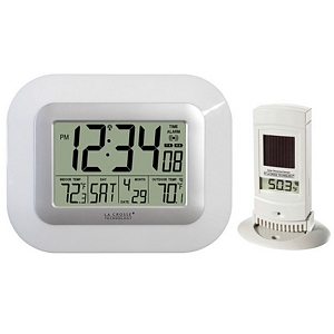 250 1736 - ATOMIC DIGI WALL CLOCK W/IN/OUTDOOR TEMP, WHITE - is no longer available at Cyberguys.com