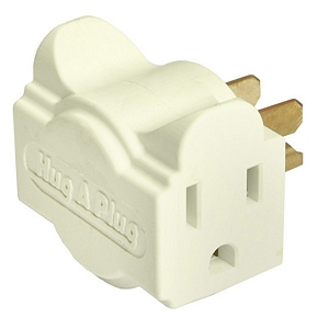 112 0132 - HUG-A-PLUG DUAL OUTLET WALL ADAPTER, 6PK, IVORY - is no longer available at Cyberguys.com