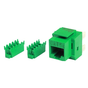 180 0295 - CAT5E 8P8C KEYSTONE PANEL JACK, GREEN - is no longer available at Cyberguys.com