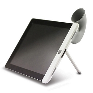 215 0958 - BONE HORN STAND FOR IPAD 2, GRAY, LF11041-GR - is no longer available at Cyberguys.com