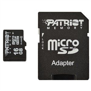 204 0220 - PATRIOT SIGNATURE MICRO SDHC FLASH CARD, 16GB - is no longer available at Cyberguys.com