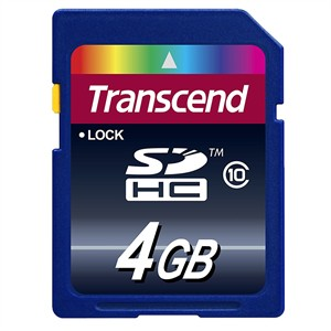 204 0232 - TRANSCEND CLASS 10 SDHC FLASH CARD, 4GB - is no longer available at Cyberguys.com