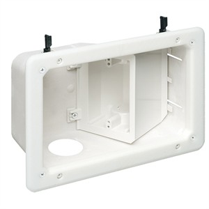 180 0642 - RECESSED TV BOX W/ANGLED OPENINGS, 2-GANG - is no longer available at Cyberguys.com